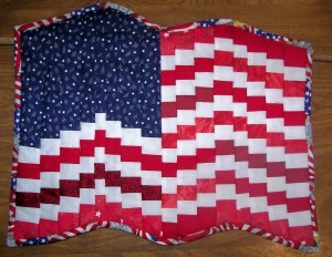 The flag quilt Mr. Dyke gave me.