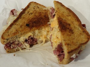 Reuben sandwich at Vintage Roadside Cafe, Urbana, Ohio