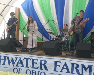 Angela Perley & the Howlin' Moons perform at the Ohio Fish & Shrimp Festival, Urbana, Ohio