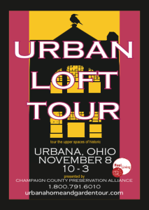 Urban Loft Tour, Urbana, Ohio, featuring historic Monument Square District