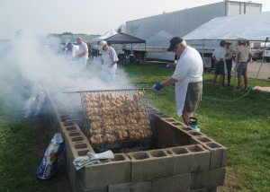 Urbana Rotary chicken barbecue at Grimes Field, Urbana, Ohio.