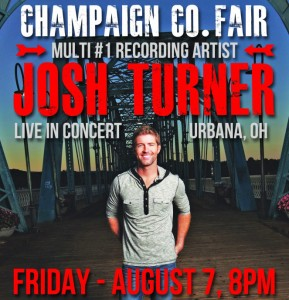 Josh Turner in concert at 2015 Champaign County Fair, Urbana, Ohio
