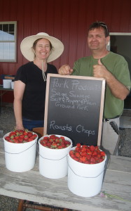 Strawberries at Folck Family Farm