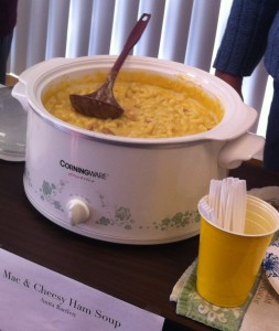 Champaign County Library, Urbana, OH, soup tasting