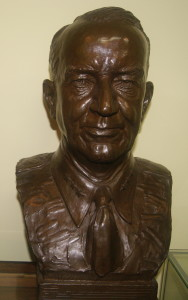 Robert Eichelberger bust at Champaign County Historical Museum
